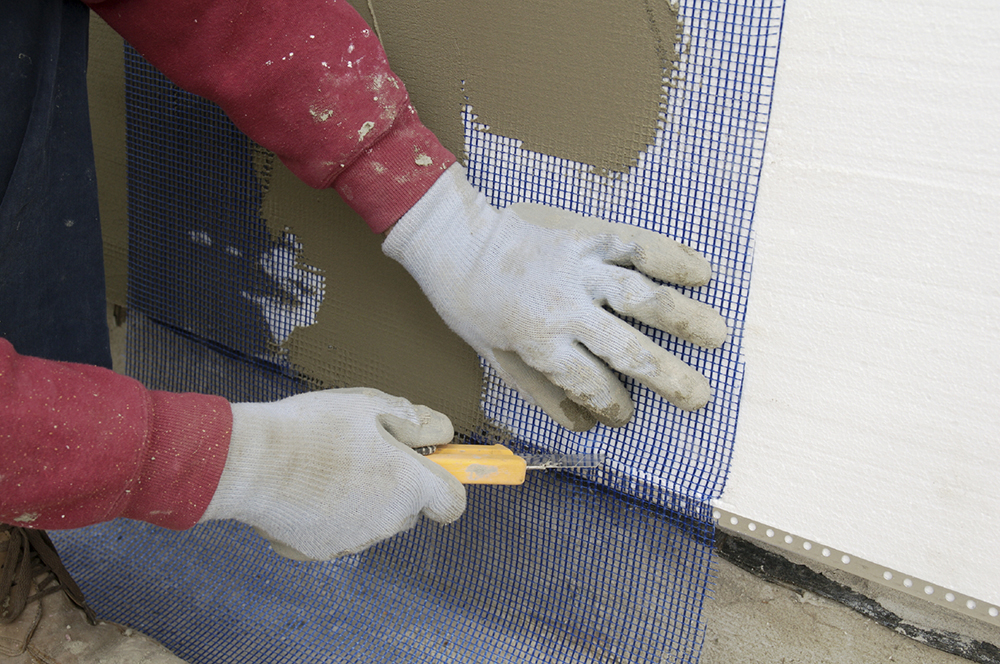 Подготовка к грунтовке пенопласта