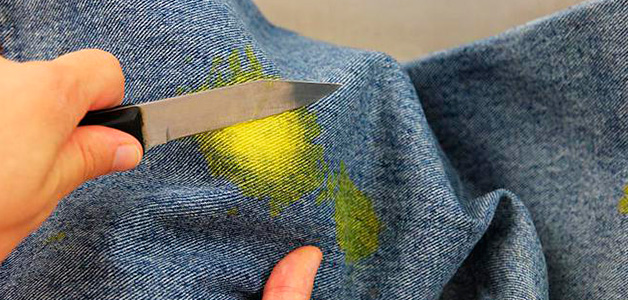 Способы удаления краски с одежды
